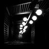 Stalk (ep_jhu) Tags: railing art bulbs apple dc lights 6s steps theline hotel stairwell iphone bw dark lookingdown stairs hanging washington districtofcolumbia unitedstates us