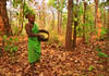 in a forest (manwar2010) Tags: odisha lady adivasi mahuya