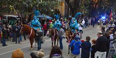 The Blue Knight Speical (BKHagar *Kim*) Tags: bkhagar mardigras neworleans nola la parade celebration people crowd beads outdoor street napoleon uptown knight knights horse horses blue proteus kreweofproteus