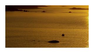 Puesta de sol en Palmeira-Riveira (A Coruña)