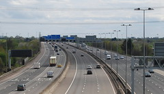 M42 and M6 Toll Motorways Merge (J_Piks) Tags: m42 m6 toll motorway road highway birmingham curdworth signs streetlighting streetlights streetlamps lampposts