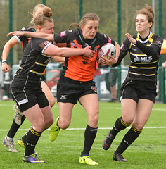 Grimace And Bear It (Feversham Media) Tags: yorkcityknightsladiesrlfc castlefordtigerswomenrlfc amateurrugbyleague rugbyleague york yorkstjohnuniversity womenssuperleague northyorkshire yorkshire sportsaction katiehepworth