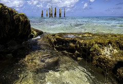 When the water breaks (creyesk) Tags: sanandres johnnycay colombia caribe caribbean ocean blue reef waves