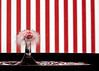 Striped Water Drop (KellarW) Tags: splashart waterdropletcollision striped waterdroplet droplet waterdrop black drop splash candystripes white red