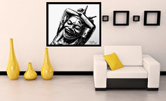 Laughing man (GP1805) Tags: art artwork drawing draw drawings ink pencil oils laughingmen canada vancouver derwent charcoal fabercastell
