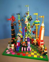 Celebrating minifigs gatecrashing at architecture anniversary party. (koffiemoc) Tags: lego moc mocs minifigs anniversary architecture lowlug contest