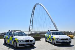 2 of a Kind (S11 AUN) Tags: cleveland police bmw 330d 3series touring anpr traffic car roads policing rpu 999 emergency vehicle nx16duv nx16dvc