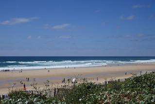Grand bleu sur l'océan, Lacanau-Océan, Lacanau, Médoc, Gironde, Aquitaine, France.