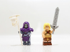 Masters of the Universe (11inthewoods) Tags: lego minifig skeletor heman masters universe mattel warriors toys