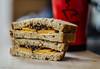 Lunch!! (BGDL) Tags: lightroomcc nikond7000 nikkor50mm118g bgdl niftyfifty kitchen cheesesandwich coffeemug fooddrink week24 weeklytheme flickrlounge