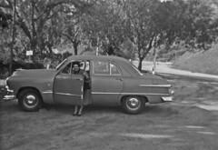 Ford custom (Leifskandsen) Tags: old vintage ford custom car woman camera scanned living leifskandsen skandsenimages skandsen