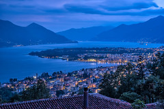 Blue hour over Lago Maggiore (wal50wol) Tags: blauestunde dorf tessin bluehour