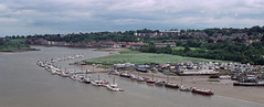 Medway Bridge Panorama (Rock Webb) Tags: pentax 6x7 film analogue panoramic scenery view bridge marina rochester kent