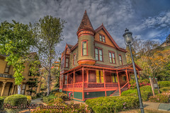 The Beautiful Christian House (Michael F. Nyiri) Tags: sandiego heritagepark victorianarchitecture queenannestyle clouds building greatphotographers