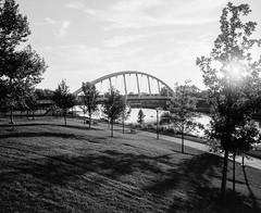 Main Street Bridge - Columbus, Ohio (ryanungeronline) Tags: 120film 2017 fomapan200 ilfosol3 pentax67 bw bwnegative filmphotography