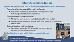 Trap Fisheries Draft Rule Staff Recommendation (MyFWCmedia) Tags: fwc fwcstaff myfwc myfwccom floridafishandwildlife florida fish wildlife commissionmeeting sarasota conservation