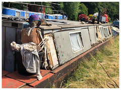 Still waiting for Mr Right!!!! (The Stig 2009) Tags: canal barge naked female skeleton grand union boat london old thestig stig 2009 2018 tony o tonyo apple iphone 8 plus fun candid wreck thestig2009