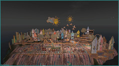 Un monde en carton (Tim Deschanel) Tags: tim deschanerl sl second life ile isle art exploration sunny day cica ghost nowhere city ville