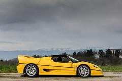 Ferrari F50 (Future Photography International) Tags: ferrari f50 supercar hypercard classic 1990 çà 90 yellow jaune modena v12 legend legende geneva suisse switzerland
