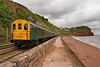 Seawall Thumper (Hoovering_crompton) Tags: 1001 hastings unit thumper demu seawall teignmouth south devon ee english electric nikon d3300 beach sand cliffs tunnel parsons