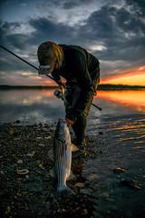 Striped bass fishing Ipswich rivers Little neck MA 6/20/18 (Brianmoc) Tags: fishing sunset ipswich ma d850 striped bass