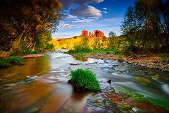 Mystical Winds (David Shield Photography) Tags: redrockcrossing oakcreek sedona arizona southwest landscape water sky redrocks wind longexposure color light nikon