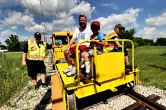 Track Speeder Rides (Laurence's Pictures) Tags: east troy electric railroad museum wisconsin train trolley interuban milwaukee light we energy railfan days chicago south shore bend csssb