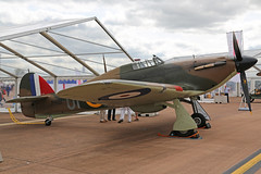 G-HUPW (R4118) Hawker Hurricane Mk 1 Royal Air Force Colours RAF Fairford RIAT 14th July 2017 (michael_hibbins) Tags: ghupw r4118 hawker hurricane mk 1 royal air force colours raf fairford riat 14th july 2017 aircraft aeroplane aviation aerospace airplane aero airshow historic history vintage retro piston prop props propeller g uk