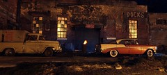 1950's Night Warehouse (gpholtz) Tags: diorama miniatures 118 diecast chevrolet 1955 pickup truck cameo belair 1956