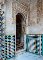 Entrance (Jocelyn777) Tags: moorish architecturaldetails tiles azulejos ceramictiles mosaic arabesque arch monuments alhambra nasridpalaces granada andalucia spain travel