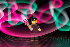 Lego Light Painter II (stephenk1977) Tags: australia queensland qld brisbane nikon d3300 studio lego light painter man figure painting brushes pen white concentrate c5 trail pink cyan