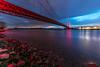 GoldenGate am Niederrhein (Maarten Takens) Tags: brug brücke niederrhein rhein rijn stenen stones bluehour
