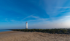 Sea mist at New Brighton. (Ade McCabe) Tags: beach sky liverpoolbay liverpool rivermersey merseyestuary estuaries newbrighton perchrock lighthouse sand mist seamist thewirral