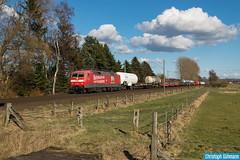 DB Systemtechnik 120 153 mit ST 94913 Hannover - Osnabrück Oro (ChrisOs93) Tags: db systemtechnik 120153 st94913 osnabrück oro innovationsgüterzug deutsche bahn güterzug trein train railroad lokomotive locomotive testfahrt jeggen