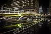 Reflected (cliveg004) Tags: wrenlanding canarywharf footbridge reflected reflection city london night lights cranes water dock nikon londonflickrmeet2018