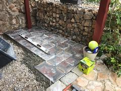 New floor in the garden