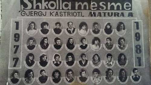 MATURA. 1977 - 1981. GJIMNAZI GJERGJ KASTRIOTI DURRËS.