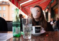 Ninka (alexanderferdinand) Tags: kroatien zagreb lokal nina girl smoking