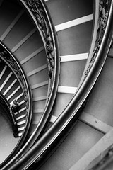 Walking in circles (tehroester) Tags: architecture black white bw building rome italy vatican museum nikon d3300 monochrome pattern abstract stairs circles geometric lines city 35mm