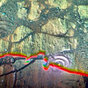 """""""Rainbow"""" on Mars, variant (sjrankin) Tags: 28march2018 edited nasa mars colorized bands257 rgb opportunity endeavourcrater hole rocks sand"""