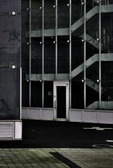 IMGP6485 (Michael-D(new works)) Tags: odaiba contemporaryarchitecture japan tokyo tiec tokyointernationalexchangecenter tokyoacademicpark archidose architecture stairs door glass