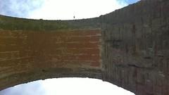 Arch brickwork from below (streetr's_flickr) Tags: ribbleheadviaduct settletocarlislerailway northyorkshire nationalpark moorland bleamoor victorianengineering 187075 masonry brickwork arches