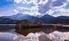 Wolkiger Tag am Kochelsee (19MilkyWay89) Tags: kochelsee kochel am see hütte wolken clouds sky lake light süddeutschland bayern mountains berge