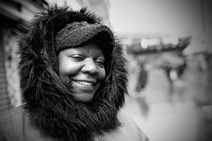 IMG_8444 (JetBlakInk) Tags: brixton portrait women pov pointofview mono streetphotography enigmaticsmile hoodie afrocaribbean winterscene face smiling