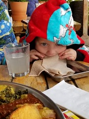 Eating injera (quinn.anya) Tags: paul toddler injera ethiopian eating cafecolucci oakland