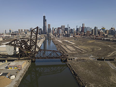 Chicago River Freight (player_pleasure) Tags: chicago chicagoist freight river ripples drone hdr cityofbigshoulders cityscape
