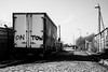 Down on the Corner (Mike Kniec) Tags: car truck road dark blackandwhite graffiti sky manchester gloomy shadowy sunless dim sombre dingy frowzy drab dismal dreary murky sony sonya7
