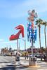 Fremont Street, Las Vegas, Nevada (Mike Sirotin) Tags: architecturephotography cityphotography travelphotography iphoto sincity shoe lasvegas nv woman cityscape city nevada freemontstreet architecture vegas sculptures