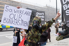No More Bombs on Syria - 13 April 2018 (The Weekly Bull) Tags: conservativeparty downingstreet islamicstate london presidentassad stwc syria theresamay whitehall antiwar demonstration peace protest roadblock war