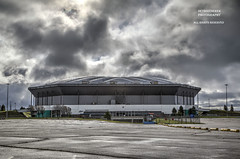 When You Wish Upon A Satellite... (DetroitDerek Photography ( ALL RIGHTS RESERVED )) Tags: allrightsreserved 586 pontiac detroit detroitlions wrestlemania yestiswastherealskythatday pontiacsilverdome venue concert large dome demolition demolish archive 2011 2018 april canon digital eos michigan icon midwest usa america parkinglot abandoned decay blight bleak closed clouds sky intense storm detroitderek arena stadium 5d mkii